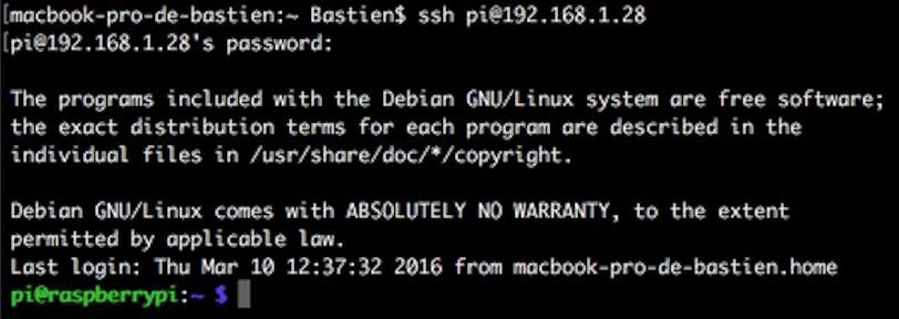 SSH-raspberry-pi